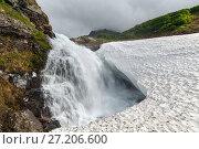 Купить «Водопад на горной реке», фото № 27206600, снято 27 июля 2017 г. (c) А. А. Пирагис / Фотобанк Лори