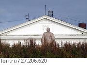 Купить «Памятник Ленину в Дудинке», фото № 27206620, снято 6 сентября 2015 г. (c) Назаренко Ольга / Фотобанк Лори