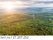 Купить «Northern landscape. Endless forests», фото № 27207252, снято 6 июня 2016 г. (c) Евгений Ткачёв / Фотобанк Лори