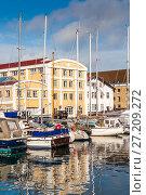Купить «Quay of the Christianshavn canals in Copenhagen with boats, plea», фото № 27209272, снято 10 марта 2012 г. (c) Ольга Визави / Фотобанк Лори