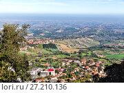 Купить «San Marino and the Apennine Mountains», фото № 27210136, снято 6 ноября 2013 г. (c) Евгений Ткачёв / Фотобанк Лори