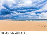 Купить «Beach on the Adriatic Sea. Rimini. Italy», фото № 27215316, снято 9 ноября 2016 г. (c) Евгений Ткачёв / Фотобанк Лори