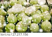 Купить «close up of cabbage at grocery store or market», фото № 27217156, снято 2 ноября 2016 г. (c) Syda Productions / Фотобанк Лори