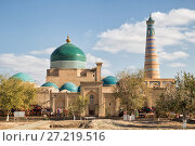 Купить «Khiva, view of the Pakhlavan Mahmud architectural complex and the minaret of Islam-Khodja. Uzbekistan», фото № 27219516, снято 22 октября 2016 г. (c) Юлия Бабкина / Фотобанк Лори