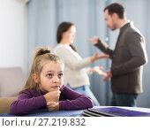 Купить «Young parents arguing with each other», фото № 27219832, снято 19 февраля 2019 г. (c) Яков Филимонов / Фотобанк Лори