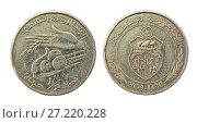 Купить «Coin one dinar. Tunisian Republic», фото № 27220228, снято 28 апреля 2016 г. (c) Евгений Ткачёв / Фотобанк Лори