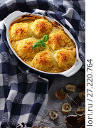 Купить «tasty dumplings stuffed with mushrooms ragout», фото № 27220764, снято 7 ноября 2017 г. (c) Oksana Zh / Фотобанк Лори