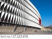 Купить «Bilbao, Spain - January 4, 2017: San Mames stadium on january 4, 2017. Is the stadium of Athletic de Bilbao football club, is located in Bilbao, Spain.», фото № 27223876, снято 4 января 2017 г. (c) easy Fotostock / Фотобанк Лори