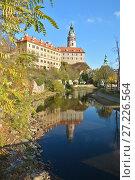 Купить «Замок в Чешском Крумлове», фото № 27226564, снято 3 ноября 2017 г. (c) Сергей Дрозд / Фотобанк Лори