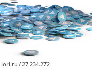 Aircraft blue logo, icon button. Social media background sign 3d illustration. Стоковая иллюстрация, иллюстратор Евгений Забугин / Фотобанк Лори
