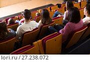 Купить «Audience expecting movie to begin», фото № 27238072, снято 3 декабря 2016 г. (c) Яков Филимонов / Фотобанк Лори