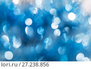 Купить «Abstract bokeh background blue and white color», фото № 27238856, снято 25 ноября 2017 г. (c) Юлия Бабкина / Фотобанк Лори