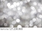 Купить «Abstract bokeh background white and grey color», фото № 27238860, снято 25 ноября 2017 г. (c) Юлия Бабкина / Фотобанк Лори
