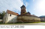 Купить «Fortified church Valea Viilor, Romania», фото № 27240080, снято 17 сентября 2017 г. (c) Яков Филимонов / Фотобанк Лори