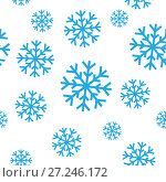Купить «Seamless pattern of snowflakes», иллюстрация № 27246172 (c) Сергей Лаврентьев / Фотобанк Лори