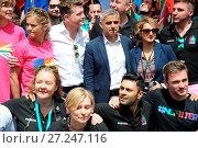 Купить «People celebrating Pride in London 2016 Featuring: Sadiq Khan Where: London, United Kingdom When: 25 Jun 2016 Credit: WENN.com», фото № 27247116, снято 25 июня 2016 г. (c) age Fotostock / Фотобанк Лори