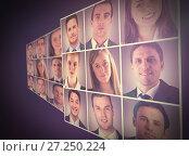 Купить «People collage portrait 3x3», фото № 27250224, снято 24 февраля 2020 г. (c) Wavebreak Media / Фотобанк Лори