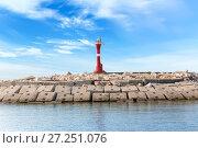 Купить «Lighthouse on a stone island», фото № 27251076, снято 25 июля 2015 г. (c) Евгений Ткачёв / Фотобанк Лори