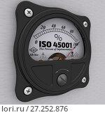 Купить «ISO 45001. The percent of implementation. Indicator», иллюстрация № 27252876 (c) WalDeMarus / Фотобанк Лори