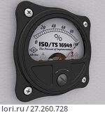 Купить «ISO/TS 16949:2009. The percent of implementation», иллюстрация № 27260728 (c) WalDeMarus / Фотобанк Лори