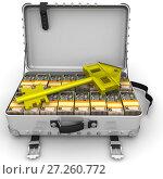 Купить «Деньги (украинские гривны) на покупку недвижимости», иллюстрация № 27260772 (c) WalDeMarus / Фотобанк Лори