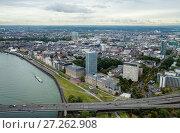 Купить «Dusseldorf from above», фото № 27262908, снято 26 сентября 2012 г. (c) Михаил Лавренов / Фотобанк Лори