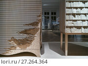 Austria, Vienna, Museum for Applied Arts, MAK, hand made modern furniture detail. (2016 год). Редакционное фото, фотограф Walter Bibikow / age Fotostock / Фотобанк Лори