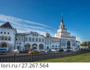 Купить «Здание Казанского вокзала в Москве», фото № 27267564, снято 5 июля 2014 г. (c) Геннадий Соловьев / Фотобанк Лори