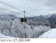 Купить «Mountains in winter season, Sochi», фото № 27269940, снято 5 ноября 2013 г. (c) ElenArt / Фотобанк Лори