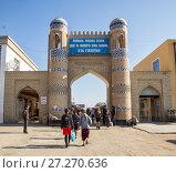 Купить «Гандимьян-дарваза - северо-восточные ворота крепости Дишан-Кала. В настоящее время ворота городского базара. Хива, Узбекистан», фото № 27270636, снято 22 октября 2016 г. (c) Юлия Бабкина / Фотобанк Лори