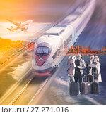 Купить «Traveling options for couples», фото № 27271016, снято 13 декабря 2019 г. (c) Яков Филимонов / Фотобанк Лори