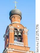 Купить «Колокола на колокольне храма Преображения Господня в Тушине», фото № 27275776, снято 20 апреля 2016 г. (c) Алёшина Оксана / Фотобанк Лори