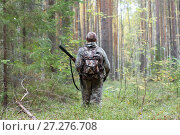 Охотник в сосновом бору. Стоковое фото, фотограф Павел Родимов / Фотобанк Лори