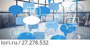 Купить «Composite image of various speech bubble symbols», фото № 27278532, снято 22 февраля 2018 г. (c) Wavebreak Media / Фотобанк Лори