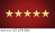 Купить «five star rating review», фото № 27279556, снято 19 января 2020 г. (c) Wavebreak Media / Фотобанк Лори