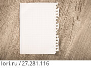 Купить «Empty torn page», фото № 27281116, снято 18 июля 2018 г. (c) Яков Филимонов / Фотобанк Лори