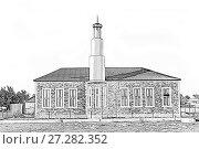 Купить «Новая мечеть в поселке Кутан Бутуш. Дагестан. Россия», фото № 27282352, снято 28 сентября 2015 г. (c) Евгений Ткачёв / Фотобанк Лори