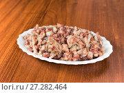 Купить «Sliced herring fillets», фото № 27282464, снято 31 декабря 2015 г. (c) Евгений Ткачёв / Фотобанк Лори