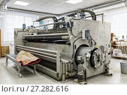 Купить «Automatic washing and cleaning of carpets. Industrial line for washing carpets», фото № 27282616, снято 19 июня 2017 г. (c) Евгений Ткачёв / Фотобанк Лори