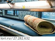 Купить «Automatic washing and cleaning of carpets. Industrial line for washing carpets», фото № 27282632, снято 19 июня 2017 г. (c) Евгений Ткачёв / Фотобанк Лори
