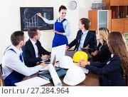 Купить «Meeting of architectors indoors», фото № 27284964, снято 7 декабря 2019 г. (c) Яков Филимонов / Фотобанк Лори