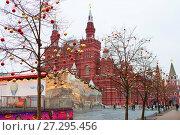 Купить «Москва. Новый Год на Красной площади.», фото № 27295456, снято 16 декабря 2015 г. (c) Галина Савина / Фотобанк Лори