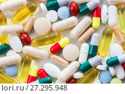 different pills and capsules of drugs. Стоковое фото, фотограф Syda Productions / Фотобанк Лори