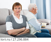 Купить «Aged couple arguing», фото № 27296884, снято 10 июля 2020 г. (c) Яков Филимонов / Фотобанк Лори