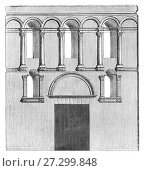 Купить «Architectural plan of the Golden Gate at Diocletian's Palace, built for the Roman Emperor Diocletian at the turn of the fourth century AD. Today the palace...», фото № 27299848, снято 2 ноября 2017 г. (c) age Fotostock / Фотобанк Лори