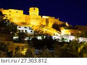 Купить «view at Castle of Villafames in night illumination, Spain», фото № 27303812, снято 15 мая 2016 г. (c) Яков Филимонов / Фотобанк Лори