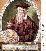 Portrait de Gerhard Kremer a. k. a Gerardus Mercator. Редакционное фото, фотограф Artepics / age Fotostock / Фотобанк Лори