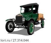 Купить «Retro truck», иллюстрация № 27314044 (c) Александр Володин / Фотобанк Лори