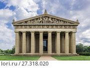 The Parthenon is the centerpiece of Centennial Park, Nashville, Tennessee, USA. Стоковое фото, фотограф John Greim / age Fotostock / Фотобанк Лори