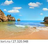 Algarve beach Dos Tres Irmaos (Portugal) (2016 год). Стоковое фото, фотограф Юрий Брыкайло / Фотобанк Лори